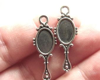 Bracelet Pendant Charms for bracelet etsy 10pcs mirror charms antique silver tone charm pendant bracelet necklace 28mm x 10mm cs 0170 audiocablefo