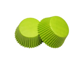 Lime Green Baking Cupcake Liners Cups - 36 Standard Size Liners - Baking, Craft and Party Supplies