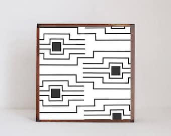 boho southwestern nursery art, geometric pink- baby decor- farmhouse nursery- black white nursery gray nursery decor, rustic- redtilestudio