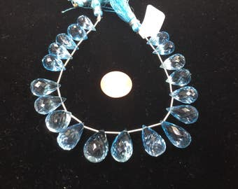 Sky Blue Topaz Drops Faceted
