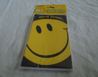 90s Smiley Face Hippie Party Invitations