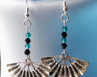 Fan Earrings // Chinese Fan Earrings // Japanese Fan Earrings  // Oriental Earrings //