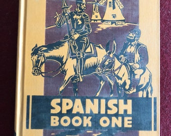 Spanish Book One-Language,Literature and Life by Friedman,Arjona and Carvajal/1941/432 pages/Free SH to US/Great Condition#645