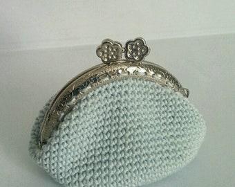 Crochet coin holder, crochet purse, woman purse, purses crochet, coin holder CLAC Click, purse