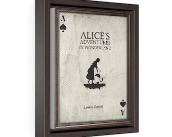 Alice in wonderland - Vertical Framed Premium Gallery Wrap Canvas