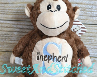 Personalized Stuffed Animal baby gift, Monogrammed stuffed animal, monogrammed baby gift, monogrammed lamb, baby elephant, baby monkey