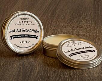 Ms. Betty's Original Bad-Ass Beard Balm - Peppermint and Blue Spruce