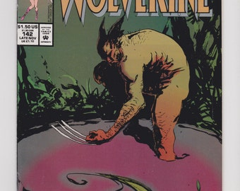 Wolverine Marvel Comics Presents #142 With Ghost Rider and Foreigner and Spellbound Stories 1993 Vintage Comic Book Art