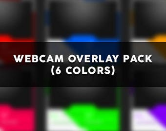 6 Colorful Webcam Overlay Pack