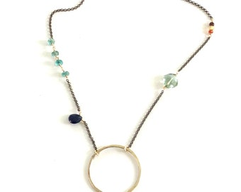 Unique circle necklace