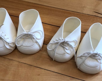 Vintage 1980s White Plastic Cabbage Patch Kids Doll Shoes!