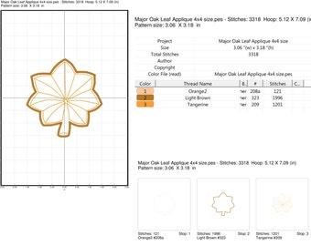 Major Rank Applique Embroidery Design
