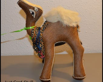 A Unique Stuffed Camel ~  Made with Real Fur ~ Camel Decor ~