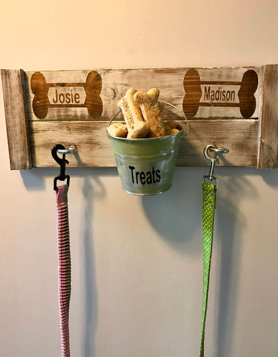 Personalized Pet, Personalized Dog, Personalized Treat Jar for Pets, Personalized Leash and treat holder, Personalized leash Hook, Pet treat