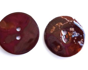 5 Brown 22mm Pearl buttons