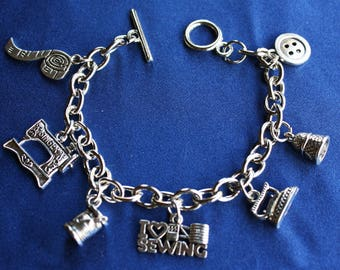 Sewing Charm Bracelet (a)