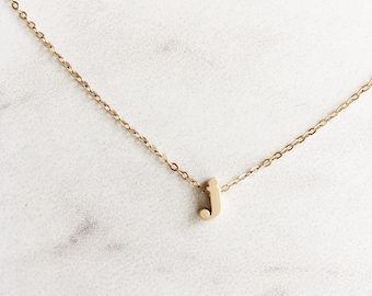 Lower Case Initial Necklace, Personalized Necklace, Bridesmaid Gifts, Gold Initial Necklace, Gifts for Her, Sterling Silver, Rose Gold