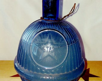 "HARDENS Blue ""Star"" Hand Grenade Glass Fire Extinguisher"
