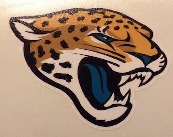 Jacksonville Jaguars 4 inch decal vinyl sticker