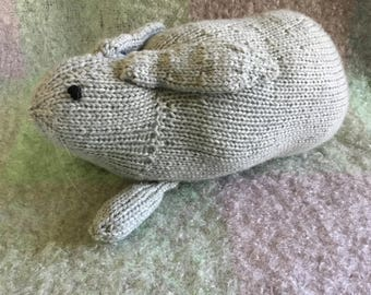 Easter rabbit hand knit, grey