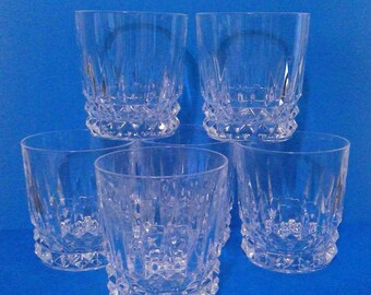6 Cristal D'Arques Durand Barcelona Crystal Old Fashioned Glasses