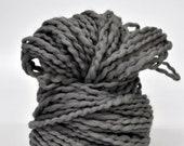 Handdyed Grey, Soft, big Bulky yarn, Thick, Pretty yarn, Wall hanging, Knitting, Weaving, Crochet, Fringe, Scarf Yarn, Yospun, Fiber