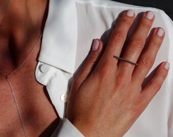 Ring in silver finger