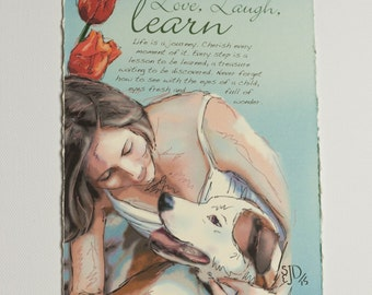 Live, Laugh & Learn - 5x7 Illustrated Card