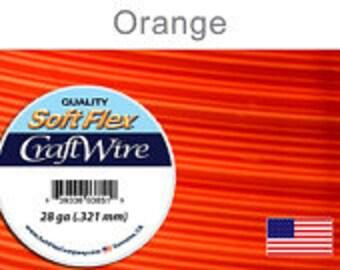 28 Gauge Orange Silver Plated Wire, Soft Flex, Non Tarnish, Round, Supplies, Findings, Craft Wire