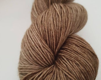 Walnut /hand dyed 4ply yarn, 75/25 Superwash merino, nylon