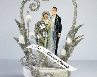1920's Deco Wedding Cake Topper