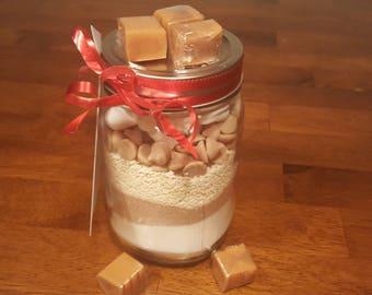 Salted Caramel Hot Chocolate Mason Jar