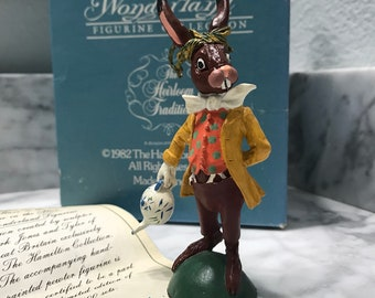 "Alice in Wonderland Figurine Collection The Heirloom Tradition 1982 The Hamilton Collection ""The March Hare"" H4907, Item #SUE32477"
