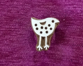 bird Wood Stamp, Textile Stamp, Pottery stamp indian hand carved wood block fabric stamps,animal stamps, tjaps