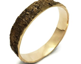 Bark Bracelet, Tree Jewelry, Oak, Tree Trunk, Wood, Bronze, Metal, Rustic, Nature