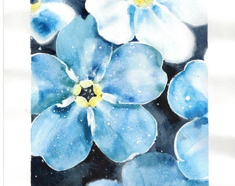 Forget-me-not artwork