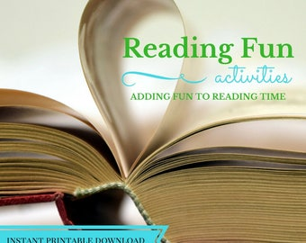 Reading Fun Ideas, Digital Download, Instant Printable, Summer Reading, Parenting Resources, Reading Ideas, Summer Kids, Homeschool