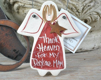 My Daycare Mom Teacher Gift Salt Dough Ornament Mother's Day Gift Preschool Gift Daycare Gifts Birthday Gift Day Care Thank You