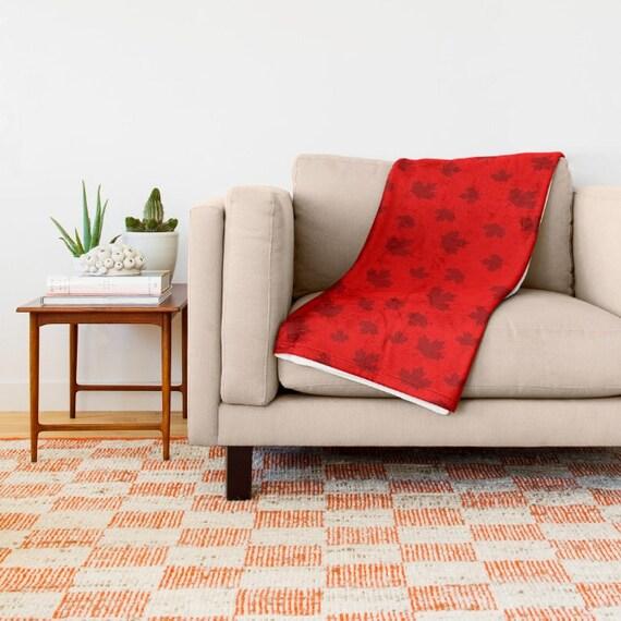 Custom Made Canada Red Throw Blanket by PrtSkin