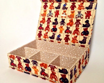 Teddies Handmade Fabric Covered Box
