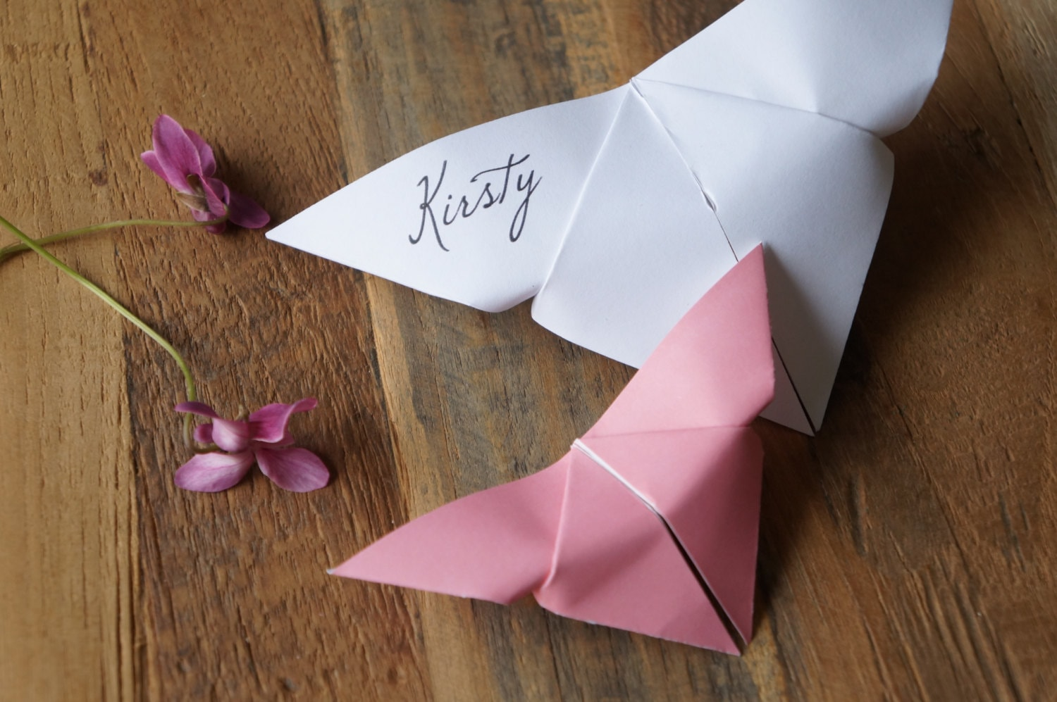 Butterfly placecards wedding place cards origami place zoom jeuxipadfo Choice Image