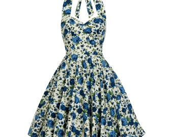 Summer Dress Rose Dress Floral Bridesmaid Dress Vintage Floral Dress Sun Dress Plus Size Dress Pin Up Dress 50s Dress Prom Dress Party Dress