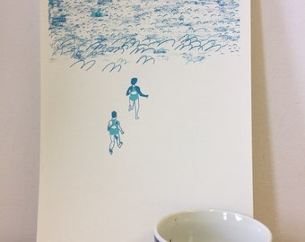 Swimmers Screen Print