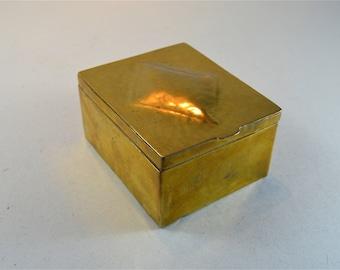 A German Arts and Crafts brass casket box circa.1900-10