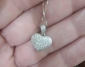 Vintage diamond necklaces pendant 18k white gold receipt