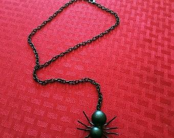 Black Spider Lariat/Noose Necklace