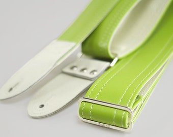 Lime Punch Green Vintage Pastel Guitar Strap