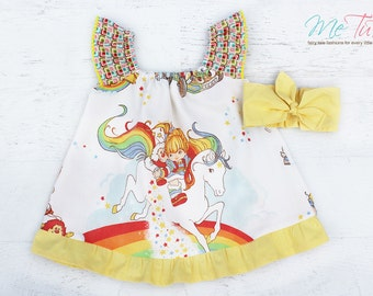 Vintage Retro Rainbow Brite Girl Baby Girl Dress Birthday