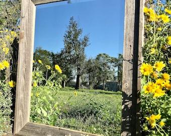Farmhouse Mirror, Wall Mirror, Wood Mirror, Rustic Wood Mirror, Framed Mirror - 100% Reclaimed Wood (Mulitiple Sizes)