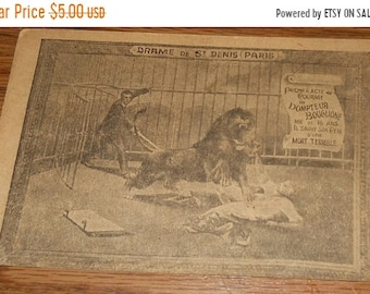 20% Off 1910 Lion Tamer Paris Postcard~Dompteur Bouglione~Drame De St. Denis